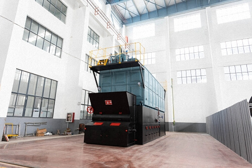What is the hourly operating cost of a 3-ton biomass boiler