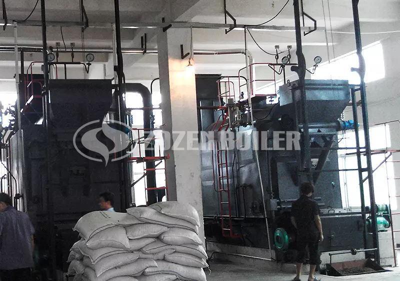 4 tph DZL biomass-fired steam boiler for feed factory